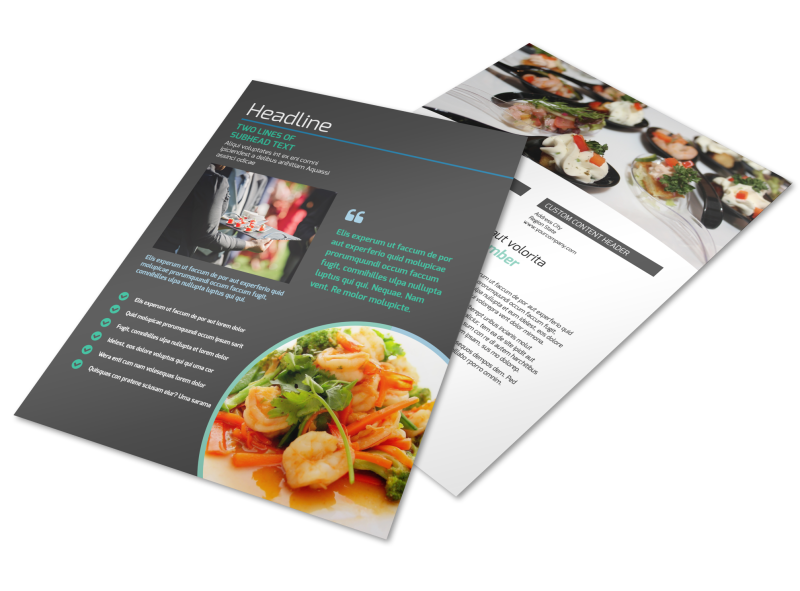 Fine Dining Catering Flyer Template Preview 1