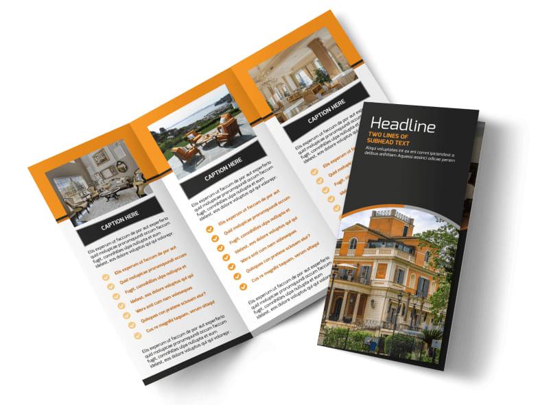 Bed & Breakfast Tri-Fold Brochure Template