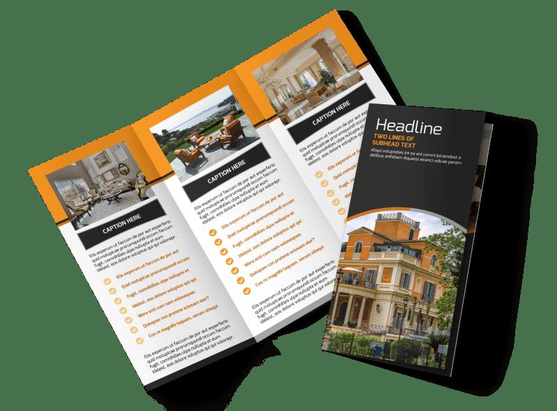 Bed Breakfast Tri Fold Brochure Template