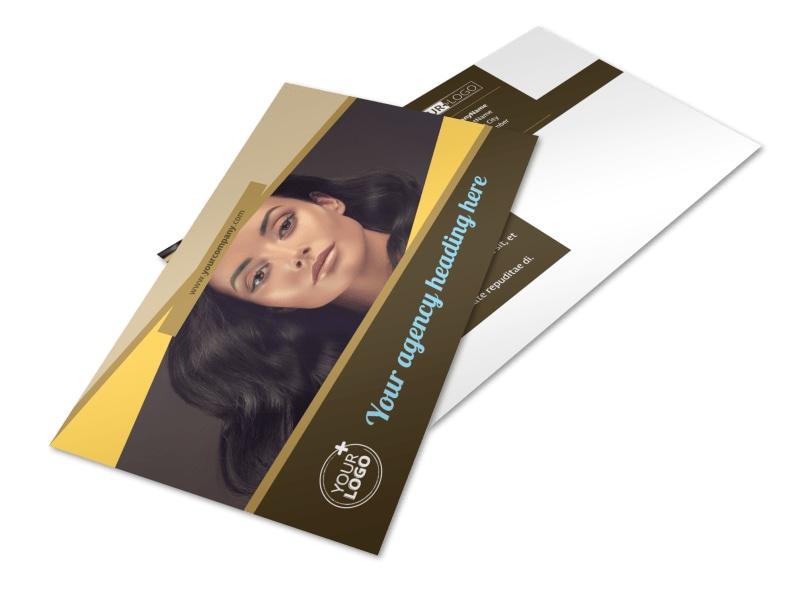 Makeup Artist Postcard Template 2