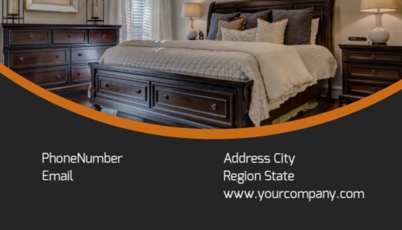 Bed & Breakfast Business Card Template Preview 3