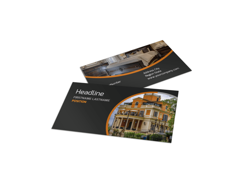 Bed & Breakfast Business Card Template Preview 1