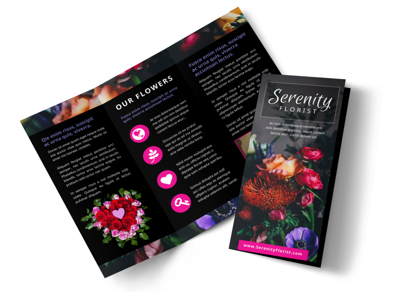 Florists flower delivery service brochure template mycreativeshop florists flower delivery service brochure template wajeb