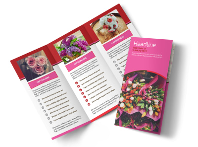 Flower Shop Tri Fold Brochure Template preview