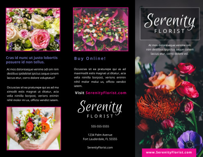 Florists & Flower Delivery Service Brochure Template Preview 1
