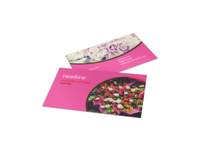 Flower Shop Business Card Template preview