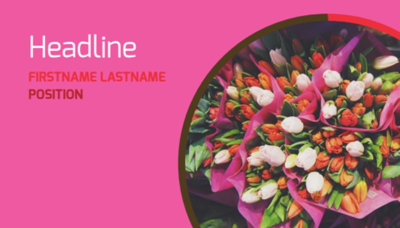 Florists & Flower Delivery Service Business Card Template Preview 2