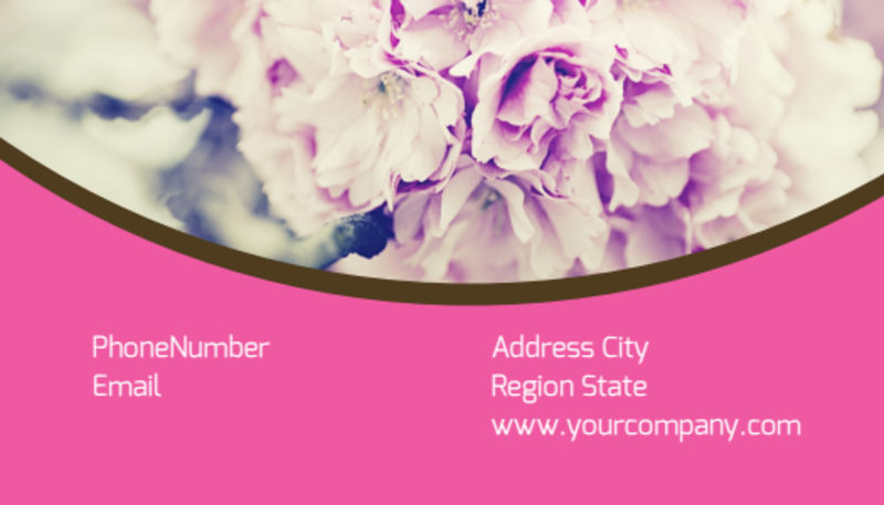 Florists & Flower Delivery Service Business Card Template Preview 3