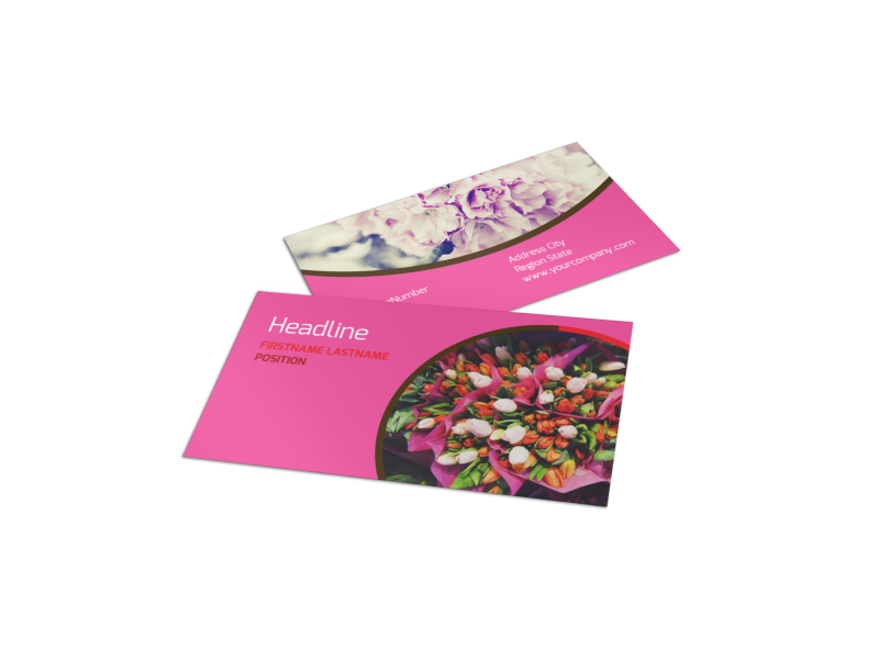 Florists & Flower Delivery Service Business Card Template Preview 1
