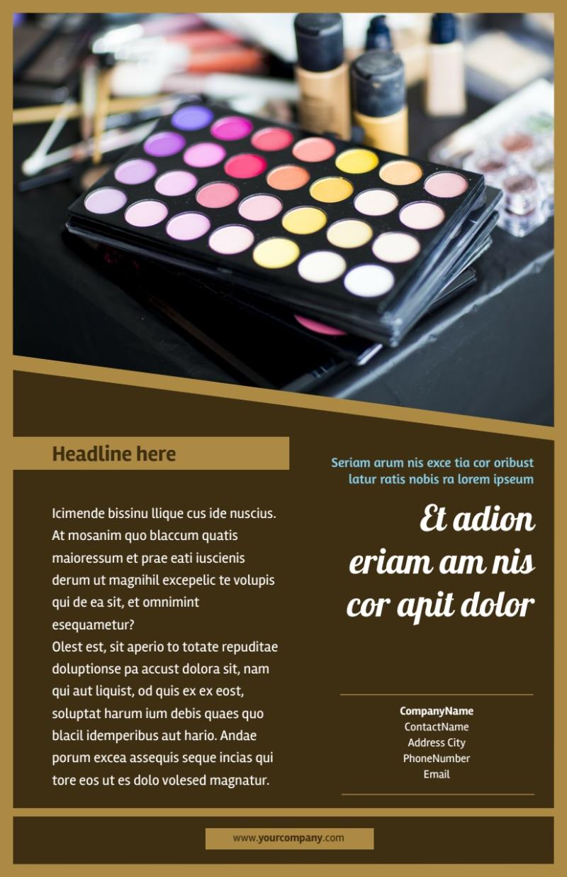 Makeup Artist Flyer Template Preview 3