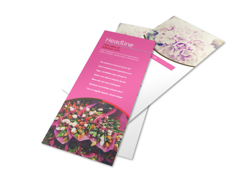 Florists & Flower Delivery Service Flyer Template Preview 4