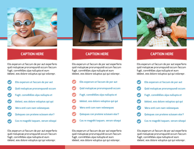 Christian Summer Camp Brochure Template Preview 3
