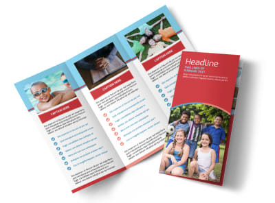 Christian Summer Camp Tri-Fold Brochure Template preview