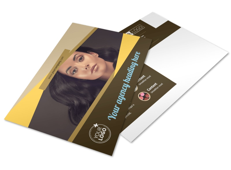 Makeup Artist Postcard Template Preview 4