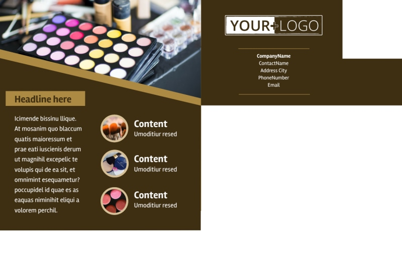 Makeup Artist Postcard Template Preview 3