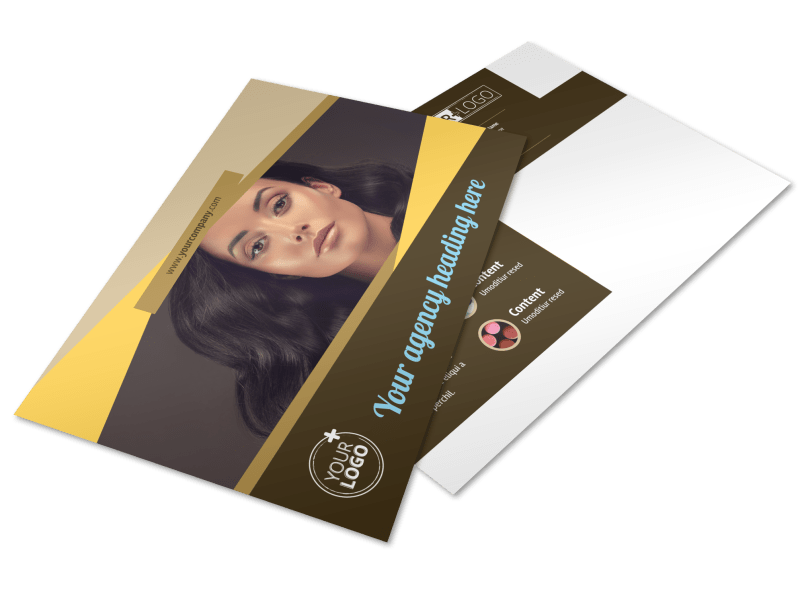 Makeup Artist Postcard Template Preview 1
