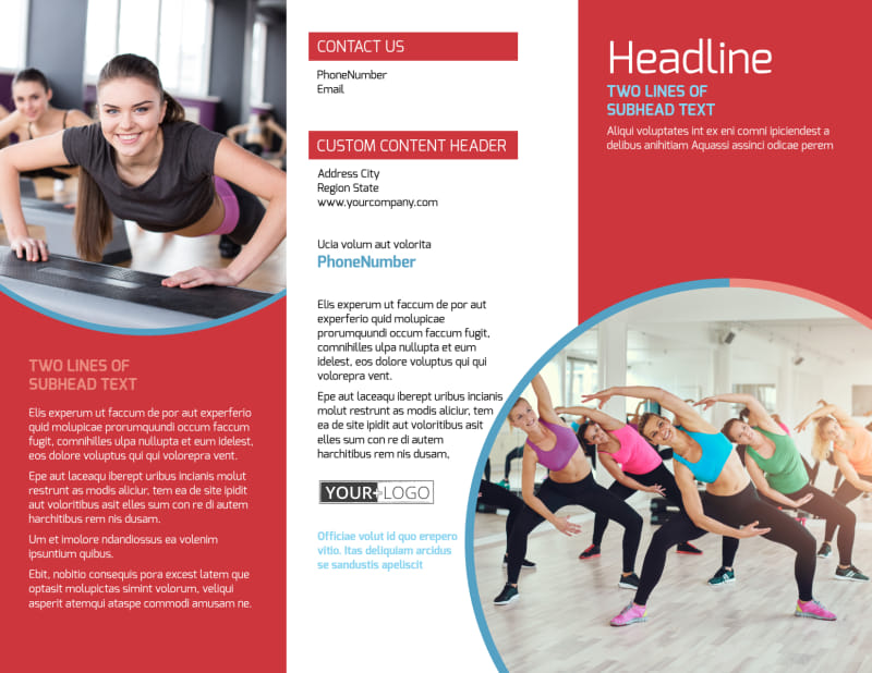 Adult Aerobics Class Brochure Template Preview 2