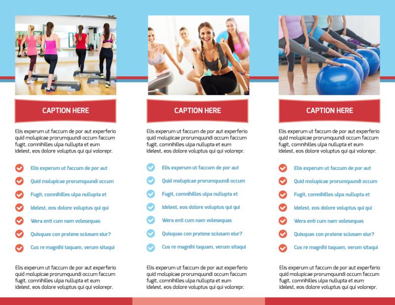 Adult Aerobics Class Brochure Template Preview 3