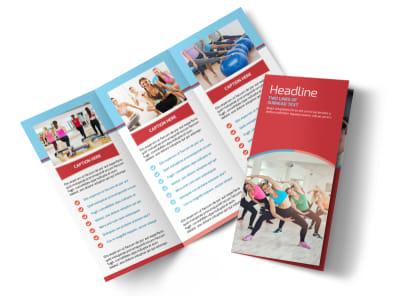 Adult Aerobics Class Tri-Fold Brochure Template