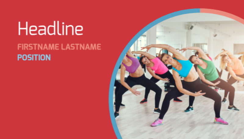 Adult Aerobics Class Business Card Template Preview 2