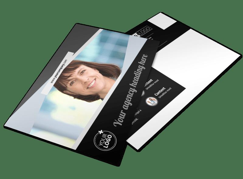 Transcripts Translation Service Postcard Template Preview 1