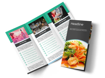 Fine Dining Catering Tri-Fold Brochure Template preview