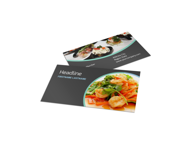 Fine Dining Catering Business Card Template Preview 1
