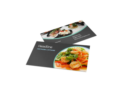 Fine Dining Catering Business Card Template preview