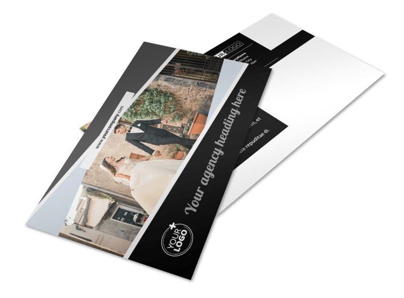 Wedding Video Service Postcard Template 2