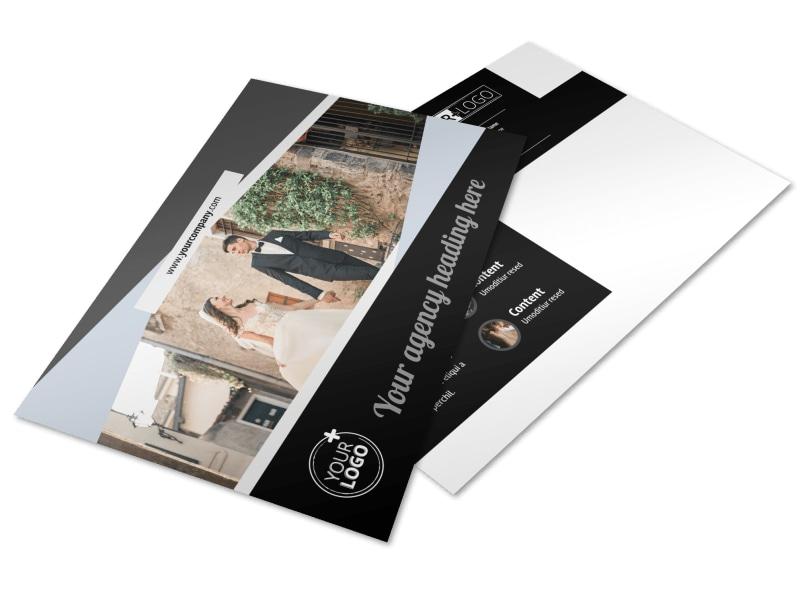 Wedding Video Service Postcard Template