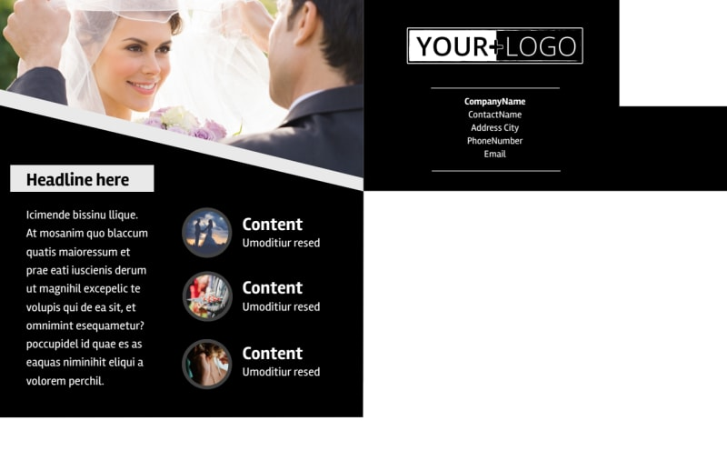Wedding Video Service Postcard Template Preview 3