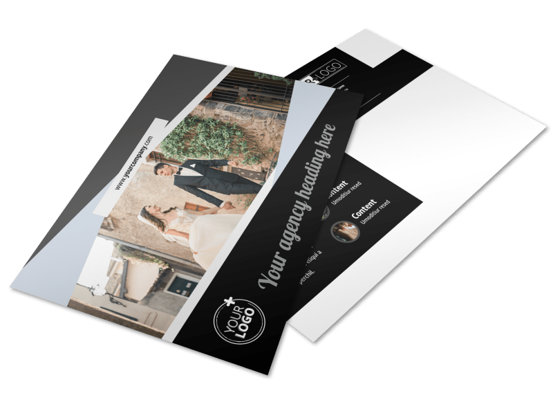 Wedding Video Service Postcard Template Preview 1
