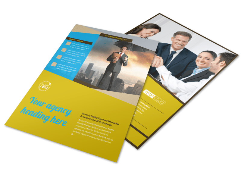 Business Insurance Flyer Template Preview 1