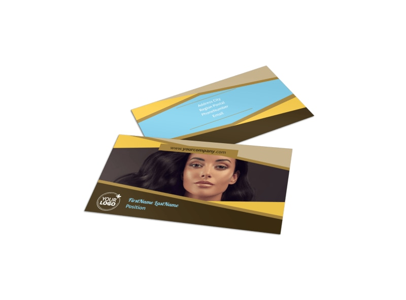Makeup Artist Business Cards Samples images