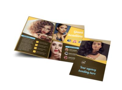 Makeup Artist Bi-Fold Brochure Template