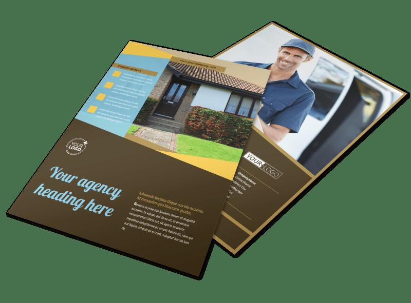Window & Door Repair Flyer Template Preview 1