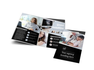 Transcripts Translation Service Bi-Fold Brochure Template
