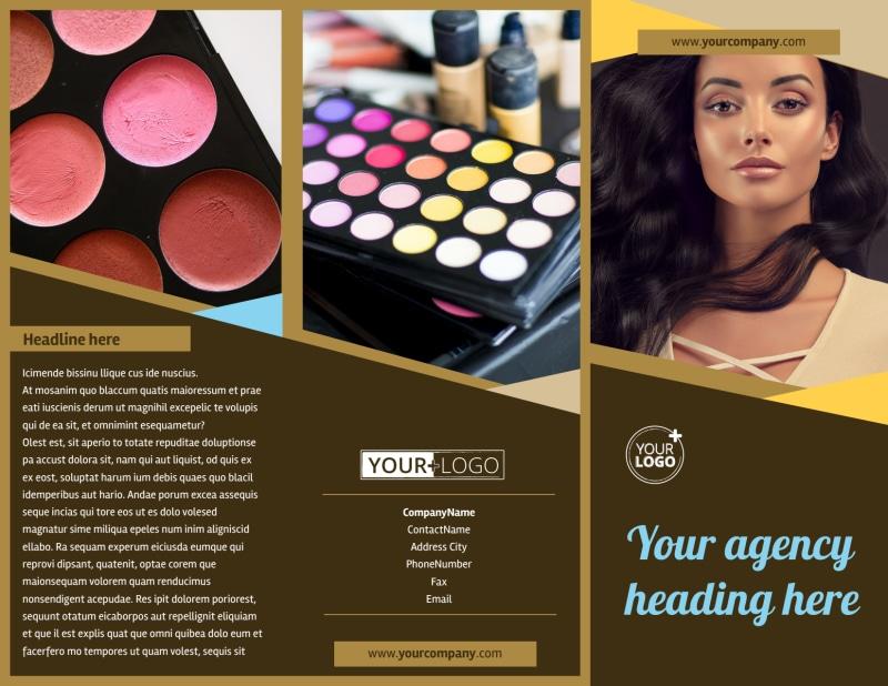 Makeup Artist Brochure Template Preview 2