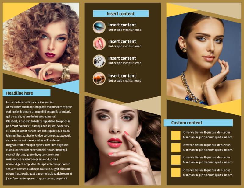 Makeup Artist Brochure Template Preview 3