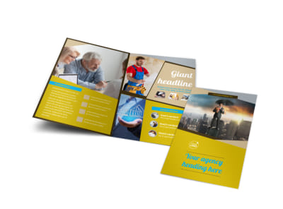 Business Insurance Bi-Fold Brochure Template preview