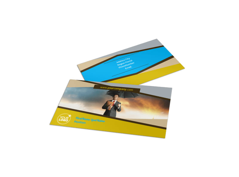 Business Insurance Business Card Template Preview 4