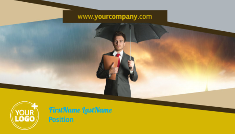Business Insurance Business Card Template Preview 2