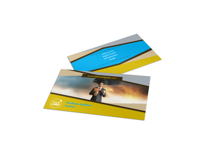 Business Insurance Business Card Template Preview 1