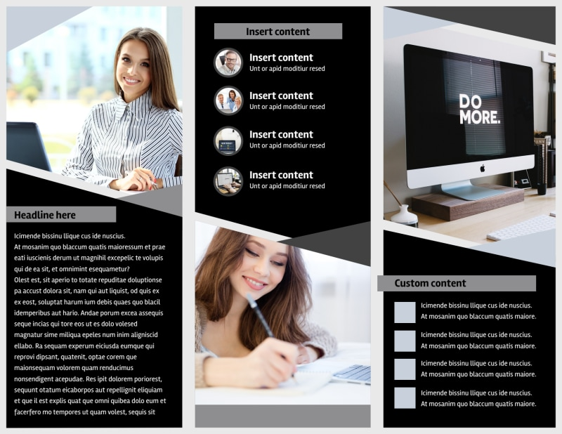 Transcripts Translation Service Brochure Template Preview 3
