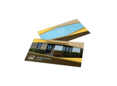 Window & Door Repair Business Card Template preview