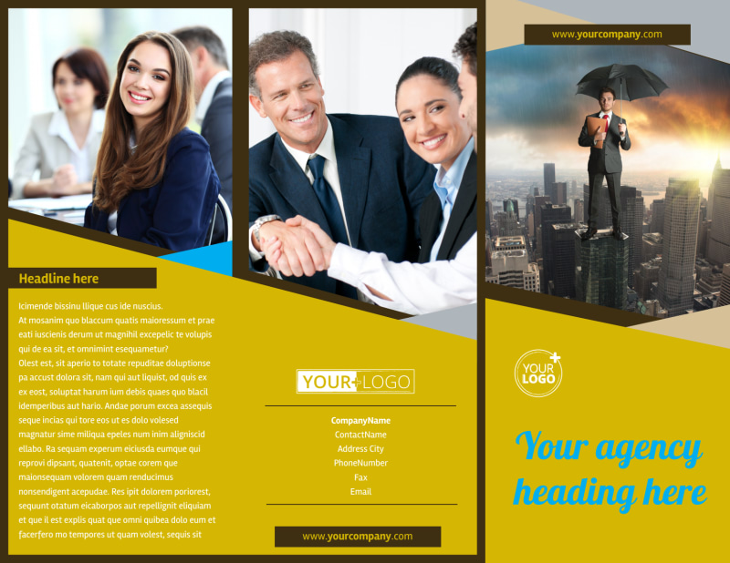 Business Insurance Brochure Template Preview 2