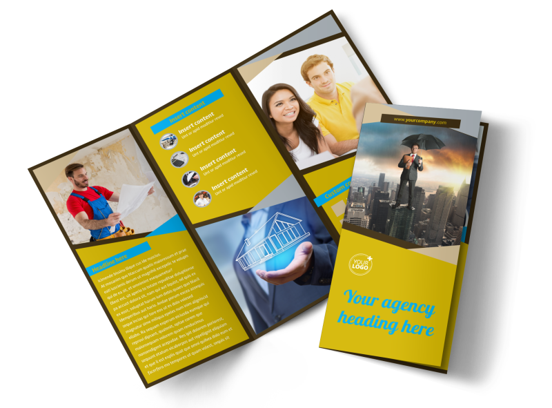 Business Insurance Brochure Template Preview 1