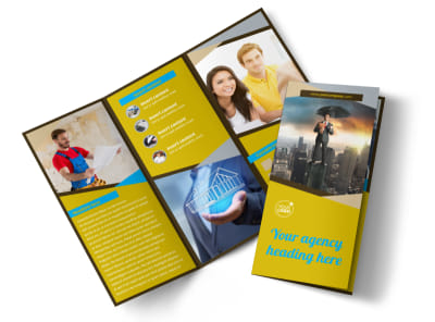 Business Insurance Tri-Fold Brochure Template
