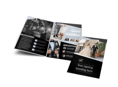 Wedding Video Service Bi-Fold Brochure Template preview
