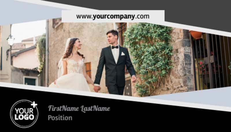Wedding Video Service Business Card Template Preview 2
